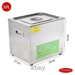 10 L Professional Digital Ultrasonic Cleaner Machine with Timer Heated Cleaning