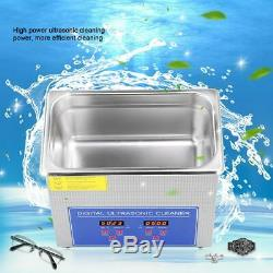 10L Digital Heated Timer Ultrasonic Cleaner Ultra Sonic Jewellery Gun Cleaning