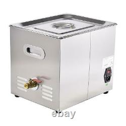 10L Digital Ultrasonic Cleaner Timer Heat Ultra Sonic Cleaning Stainless Tank US