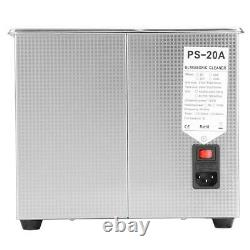 10L Liter Stainless Steel Heated Timer Heater Ultrasonic Cleaners Industry NEW