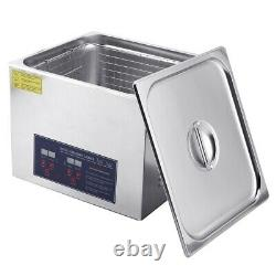 10L Stainless Digital Ultrasonic Cleaner Industry Heated Heater Tank US