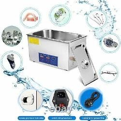 10L Ultrasonic Cleaner Cleaning Equipment Liter Heated With Timer Heater