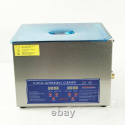 10L Ultrasonic Cleaner Cleaning Equipment Liter Industry Heated Machine New
