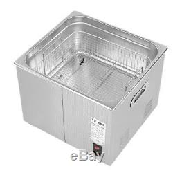 15 L Liter Stainless Steel Industry Heated Ultrasonic Cleaner Heater withTimer NEW
