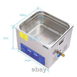 15L Stainless Steel Industry Heated Ultrasonic Cleaner Heater withTimer