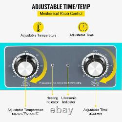 15L Stainless Steel Industry Heated Ultrasonic Cleaner Knob Control Heater Timer