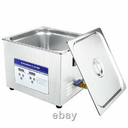 15L Ultrasonic Cleaner Commercial Heated with Digital Timer for Jewelry Dentures