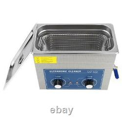 1PCS Stainless Steel Ultrasonic Cleaner Heated Cleaning Tank Machine With Basket