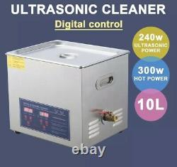 2.5 Gallon Ultrasonic Cleaner Stainless Steel Industry Heated Heater withTimer
