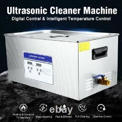 22L Disinfector Ultrasonic Cleaner Stainless Steel Industry Heated Heater +Timer