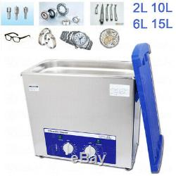 2L 6L 10L 15L Stainless Steel Heated Ultrasonic Cleaner Washing Cleaning Machine