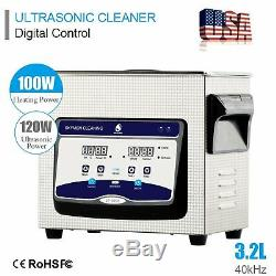 3.2 L Stainless Steel Industry Ultrasonic Cleaner Heated Heater withTimer