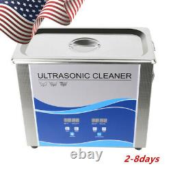 3.2L Dental Ultrasonic Cleaner Heating Bath Nail Metal Hardware Fuel Injector CE