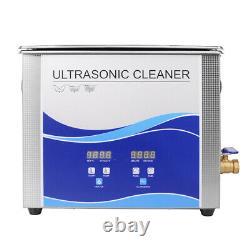 30L Dentist Stainless Steel Digital Industrial Heated Ultrasonic Cleaner Tank US