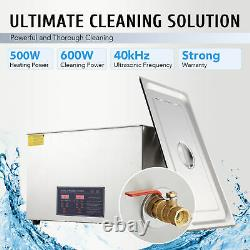 30L Stainless Steel Industry Heated Ultrasonic Digital Cleaner withTimer Dental