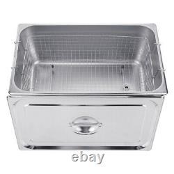30L Stainless Ultrasonic Cleaner Machine Bath Tank Digital Timer Heated set