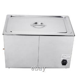 30L Stainless Ultrasonic Cleaner Machine Bath Tank Digital Timer Heated set USA