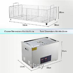 30L Ultrasonic Cleaner Cleaning Equipment Liter Industry Heated With Timer Heater