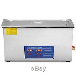 30l 380w Digital Heated Industrial Ultrasonic Cleaner WithTimer Basket