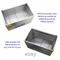 30l Qt Ultrasonic Cleaner 600W Digital Heated Industrial Parts with Timer & Heater