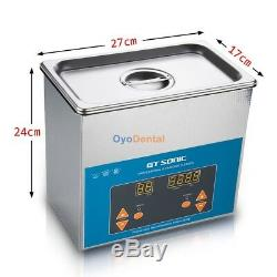 3L Digital Ultrasonic Cleaner Medical Industry Stainless Steel Heated Timer Tank