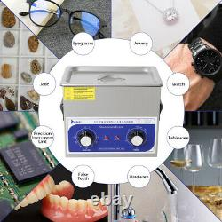 3L Stainless Steel Ultrasonic Cleaner Industry Heated Timer 40 KHz Washing Tool