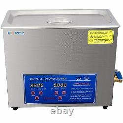 6L Commercial Ultrasonic Cleaner Industry Heated withTimer Jewelry Ring Glasses
