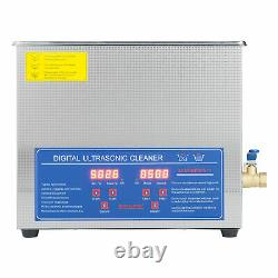 6L Liter Stainless Steel Digital Heated Industrial Ultrasonic Parts Cleaner Tool