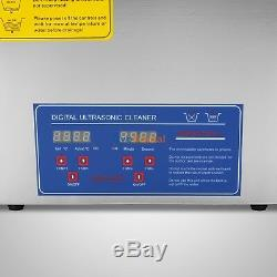 6L QT DIGITAL HEATED INDUSTRIAL ULTRASONIC PARTS CLEANER Stainless Steel 380W CE