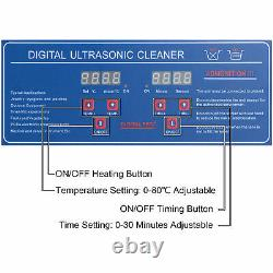 6L Ultrasonic Cleaner Cleaning Equipment Liter Industry Heated With Timer Digital