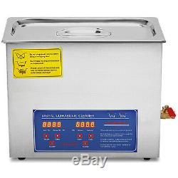 6L Ultrasonic Cleaner Stainless Steel Industry Heated Heater withTimer Heated