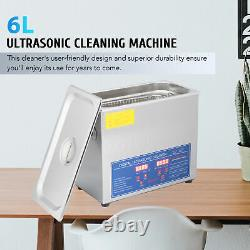 6L Ultrasonic Cleaner Stainless Steel Industry Heated Heater withTimer ota