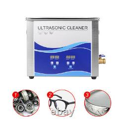 A 30L 600W Ultrasonic Cleaner 600W Heating Power Stainless Steel Basket US Stock