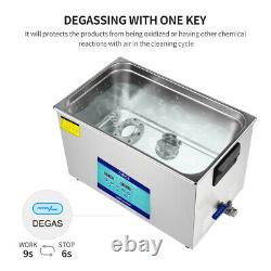 AIPOI Industry Ultrasonic Cleaner 30L Stainless Steel Heated Heater withTimer New