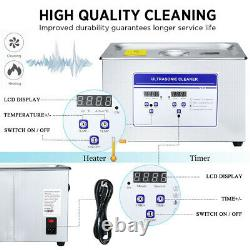 ANBULL Stainless Steel 10L Industry Heated Ultrasonic Cleaner Heater withTimer