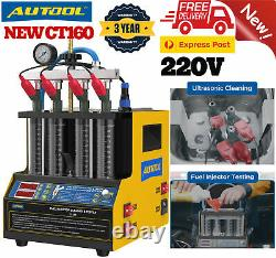 AUTOOL CT160 Ultrasonic PetrolCar Fuel Injector Heating Cleaning&Tester Machine