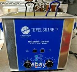 Bn 110v 3 Liter Jewelshine Heat Timer Ultrasonic Cleaner Jewelry Medical Dental