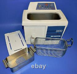 Branson 3510 Bransonic 3510R-DTH Ultrasonic Cleaner 1.5 Gal Heated With Basket