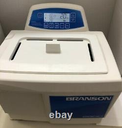 Branson M1800H Powerful Ultrasonic Cleaner 0.5Gal Tank Heating Nice Mech Timer