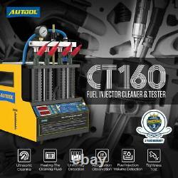 Car Fuel Injector Ultrasonic Cleaner Leak Tester Machine Heat The Clean Fluid