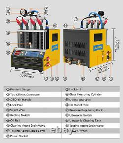 Car Fuel Injector Ultrasonic Cleaner & Tester 4-Cylinders Heating Cleanign Fluid