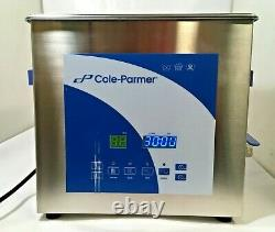 Cole-Parmer 9 Liter Ultrasonic Cleaner with Digital Timer and Heat, 120 VAC