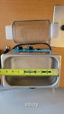 Crest 275HT Ultrasonic Cleaner-Heat/Timer/Power Control-0.75 Gal Tru-sweep Used