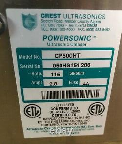 Crest CP500HT (CP500-HT) 1.5 Gal. Ultrasonic Cleaner-Heat & Timer