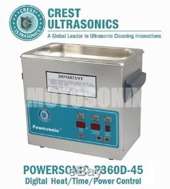 Crest Powersonic P360D-45 Ultrasonic Cleaner with Heat, Timer & Degas 1 Gal Tank