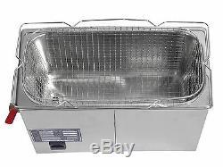 Dental Stainless Steel 6L Liter Industry Heated Ultrasonic Cleaner Heater Timer
