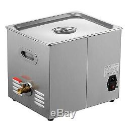 Digital 10L Stainless Steel Ultrasonic Cleaner Industry Heated Heater withTimer