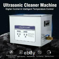 Digital Stainless Steel 10L Industry Heated Ultrasonic Cleaner Heater Timer