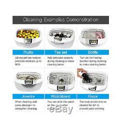 Digital Ultrasonic Cleaner Jewelry Dental 2.5L Heat Ultrasound Vegetable Cleaner