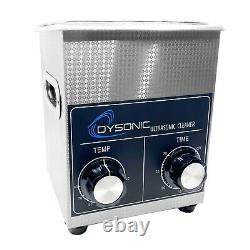Dysonic 2QT Ultrasonic Cleaner Stainless Steel Heated Jewelry Cleaning with Timer